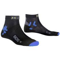 X-Socks bike racing dames fietssok zwart blauw