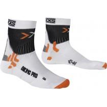 X-Socks biking pro fietssok wit zwart