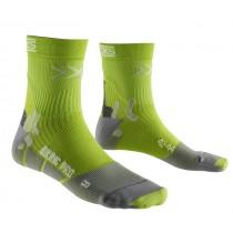 X-Socks biking pro fietssok groen grijs