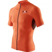 X-BIONIC The Trick Biking Shirt SS Orange Sunshine Black