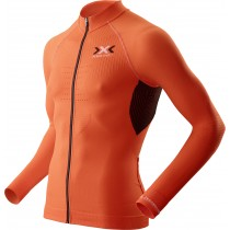 X-BIONIC The Trick Biking Shirt LS Orange Sunshine Black