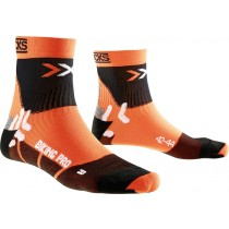 X-Socks biking pro fietssok oranje zwart
