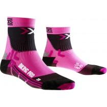 X-Socks biking pro dames fietssok fuxia zwart