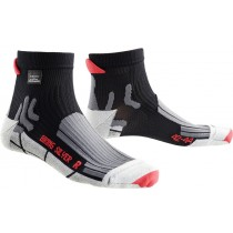 X-BIONIC Lamborghini Silver Bike Sock Black Red