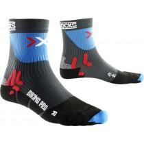X-Socks biking pro fietssok grijs blauw