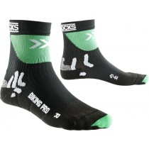 X-Socks biking pro fietssok zwart groen