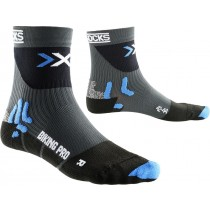X-Socks biking pro fietssok grijs zwart