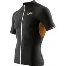 X-BIONIC The Trick Biking Shirt SS Black Orange Shiny