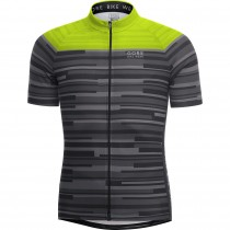 GORE BIKE WEAR Element Stripes Jersey SS Black Neon Yellow