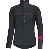Gore bike wear power thermo dames fietsshirt lange mouwen zwart bruin