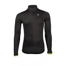 Vermarc solid fietsshirt met lange mouwen zwart