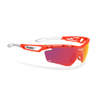 Rudy Project Tralyx bril red fluo gloss - multi laser orange lens