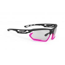 Rudy Project fotonyk fietsbril mat zwart roze - Impactx photochromic 2 lens