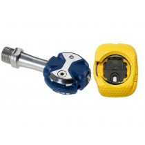 Speedplay zero stainless + walkable cleat pedalen true blauw