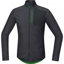 Gore bike wear power trail thermo fietsshirt lange mouwen bruin zwart