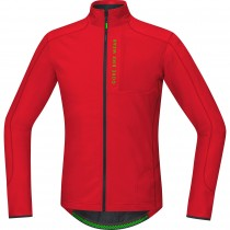 Gore bike wear power trail thermo fietsshirt lange mouwen rood