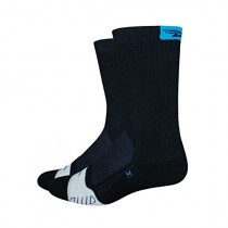 DEFEET Sock Thermeator Black Process Blue Tab
