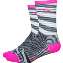 Defeet aireator high top fietssok urban roze