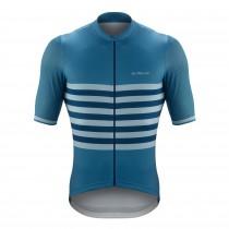De Marchi veloce fietsshirt met korte mouwen savoy blauw