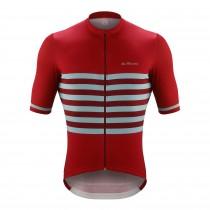 De Marchi veloce fietsshirt met korte mouwen crimson rood