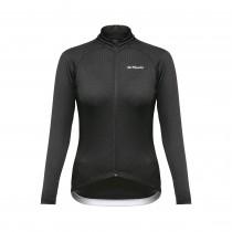De Marchi classica sportwool dames fietsshirt met lange mouwen zwart
