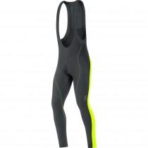 Gore bike wear element 2.0 thermo lange fietsbroek met bretels zwart geel
