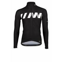 Vermarc winn fietsshirt lange mouwen zwart wit
