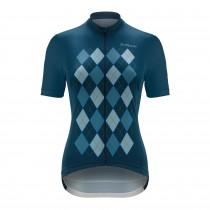 De Marchi aria dames fietsshirt met korte mouwen navy blauw