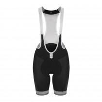 De Marchi perfecto dames korte fietsbroek met bretels zwart