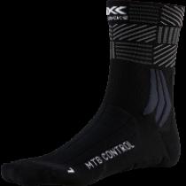 X-Socks mtb control fietssokken opal zwart stripe mix