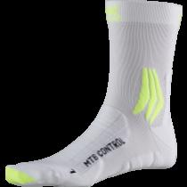 X-Socks mtb control fietssokken arctic wit phyton geel