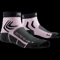X-Socks bike pro dames fietssokken charcoal grijs magnolia paars