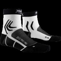 X-Socks bike pro mid fietssokken opal zwart arctic wit