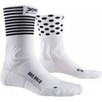 X-Socks bike race fietssokken arctic wit dot stripe