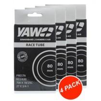 """YAW Binnenband Race 28"""" 80 mm (4 Pack)"""