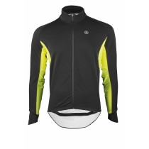VERMARC Event Rain & Cold Jersey LS Black Yellow Fluo