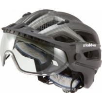 SLOKKER Helm Penegal Visor Black Anthra