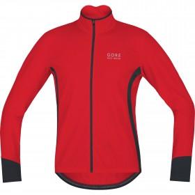 Gore bike wear power thermo fietsshirt lange mouwen rood zwart