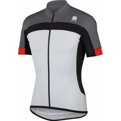 SPORTFUL Pista Jersey SS White Black Anthra