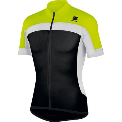SPORTFUL Pista Jersey SS Black Yellow Fluo White