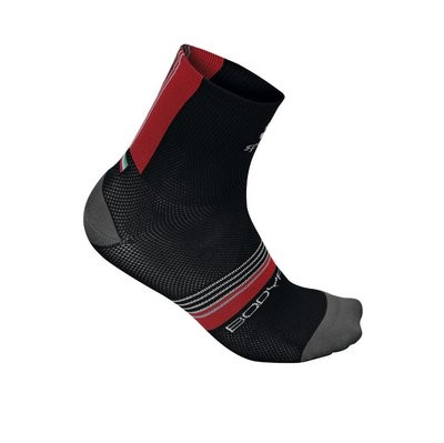 SPORTFUL Bodyfit Pro 9 Sock Black Red Anthra