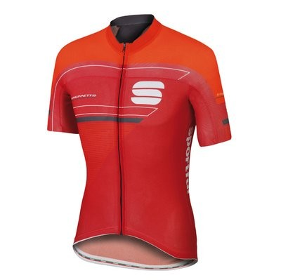 SPORTFUL Gruppetto Pro Race Jersey Red Fire Red Anthra