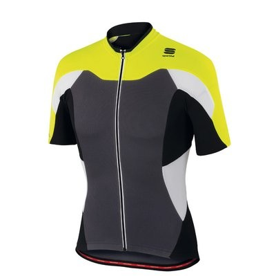 SPORTFUL Crank Jersey SS Anthra Yellow Fluo Black