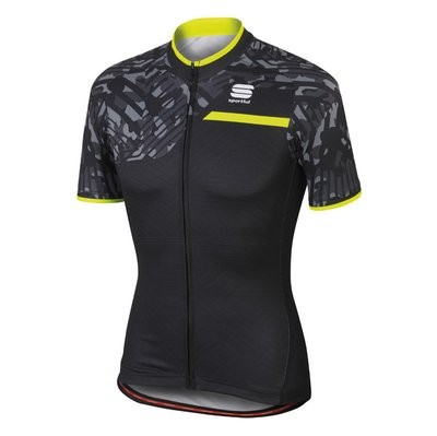 SPORTFUL Selva Jersey SS Black Anthra Yellow Fluo