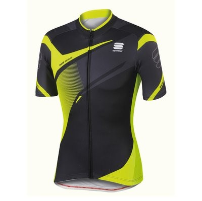 SPORTFUL Spark Jersey SS Black Anthra Yellow Fluo