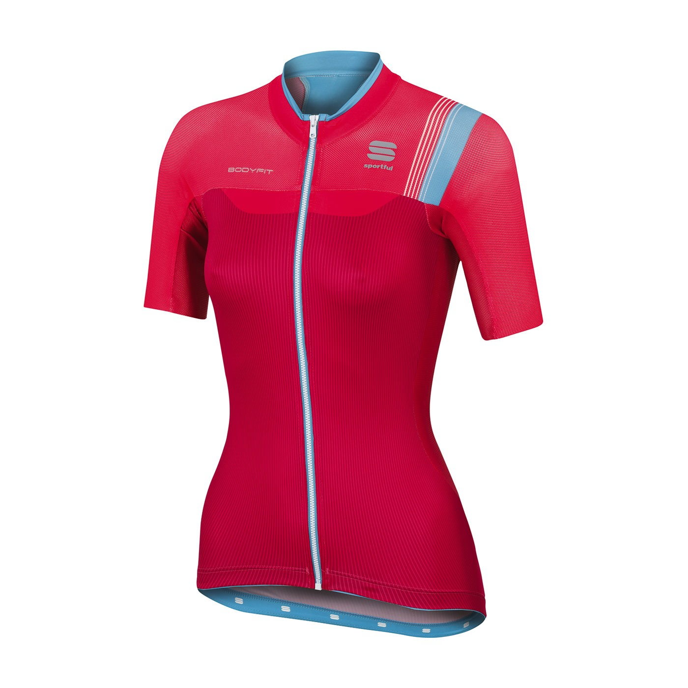 SPORTFUL Bodyfit Pro Lady Jersey SS Pink Coral Turquoise