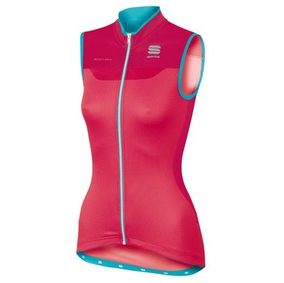 SPORTFUL Bodyfit Pro Lady Sleeveless Jersey Pink Coral Turquoise