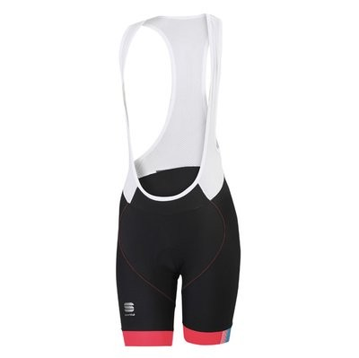 SPORTFUL Bodyfit Pro Lady Bibshort Black Pink Coral Turquoise