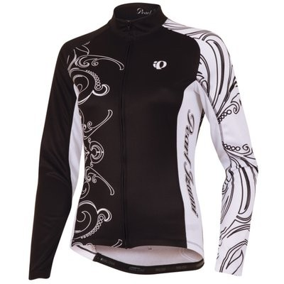 PEARL IZUMI Elite Thermal LTD Lady Jersey LS Black White
