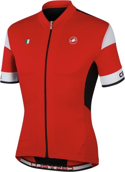 CASTELLI Fuga Jersey SS FZ Red Black